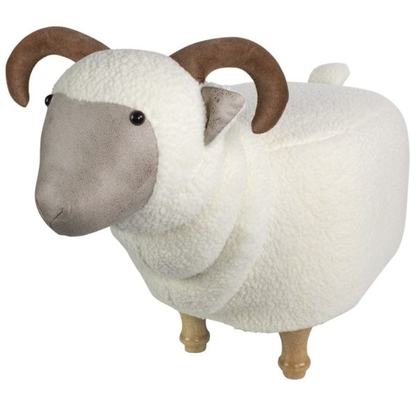 Stool Sheep cotton / polyester / wood - LifeDeals