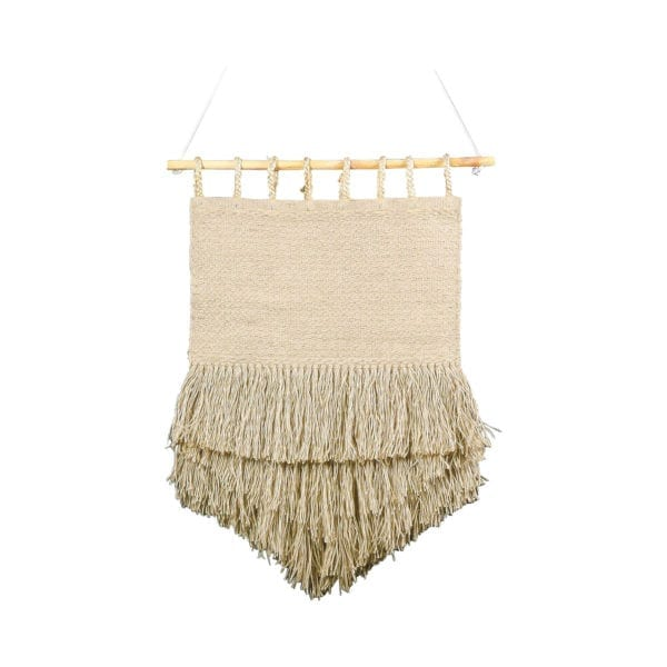 Jute Wall Tapestry Triangle Bleached 60x90cm jute - LifeDeals